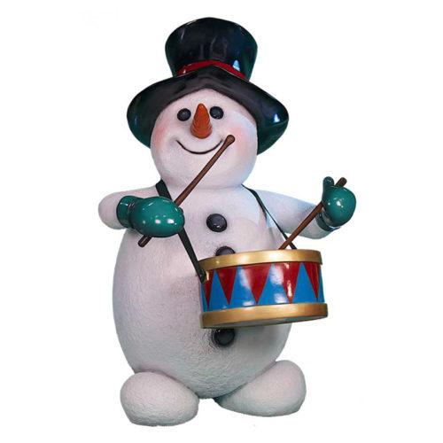 Snowman-with-drums bonhomme de neige tambour nlc deco nlc déco noel