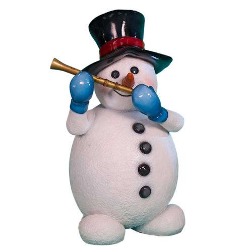 Snowman-with-flute bonhomme de neige flute nlc deco nlc décoration noel