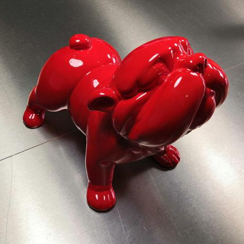 bobby chien design rouge deco déco nblc deco déco