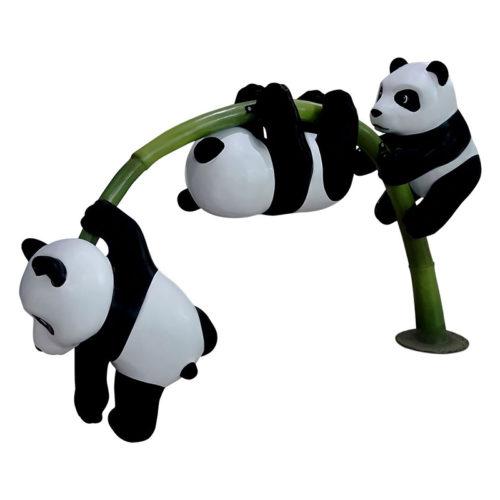 cubs-on-bamboo Pandas bébés sur bambou animaux exotique nlc deco déco