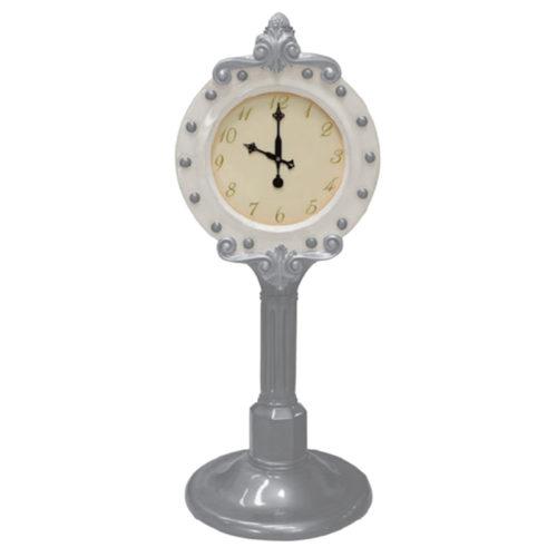 santa-clock horloge de noel nlc deco nlc décoration blanche