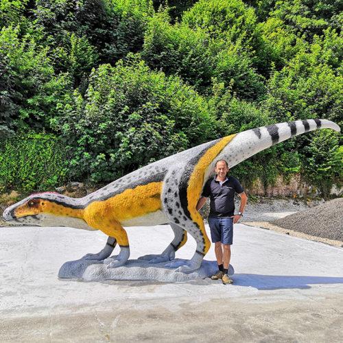 Théropode adulte 170202 dinosaure en résine nlc déco deco