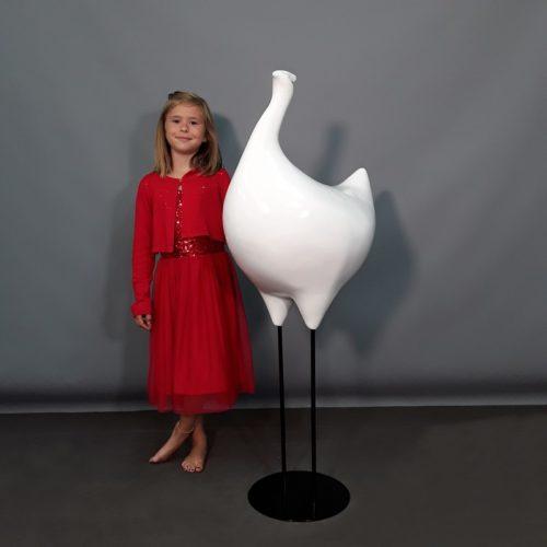 Poule blanche design nlcdeco