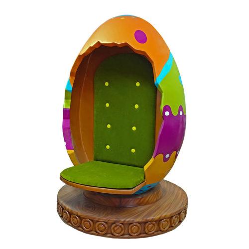 Siège oeuf de pâques nlcdeco décoration en résine fêtes enfants chocolat printemps bucolique