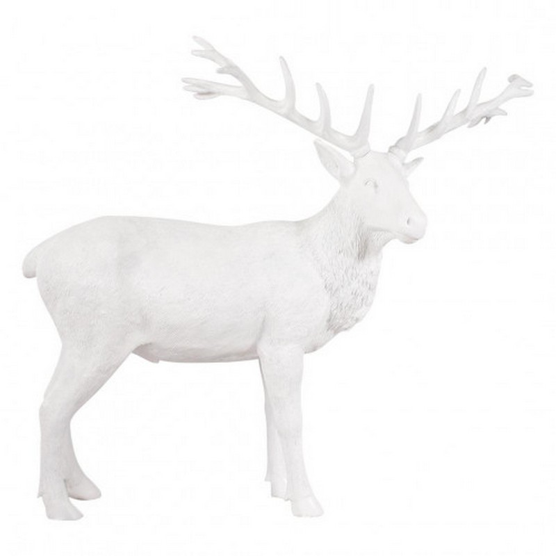 Cerf blanc taille réelle nlcdeco