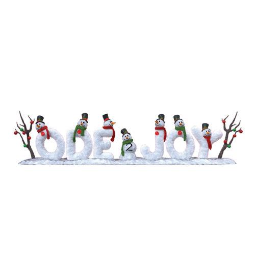 bonhomme de neige message décoration de noel nlcdeco