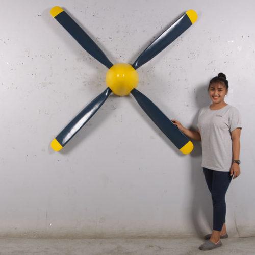hélice avion décoration en résine nlcdeco