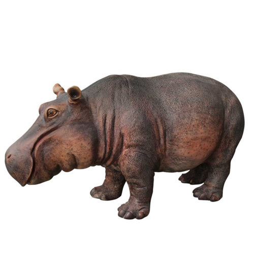 hippopotame nlcdeco animaux en résine décoration et personnage