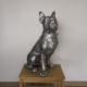 bouledogue argent chien en résine animaux et decoration en resine nlcdeco