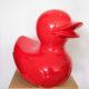 canard rouge géant nlcdeco.fr décoration en résine