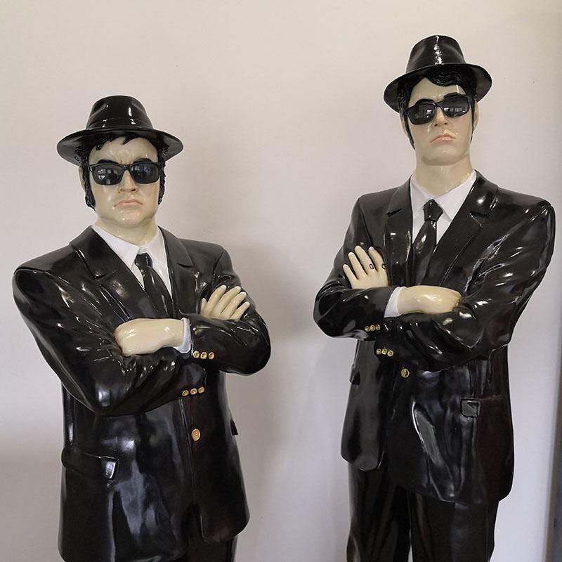 st2642 blues brothers décoration en résine nlcdeco decor cinema