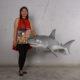 190019 requin à suspendre modele medium nlcdeco animaux de la mere en résine