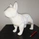petit chien debout blanc nlcdeco decoration animaux personnage en résine