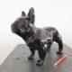 petit chien debout noir nlcdeco decoration animaux personnage en résine