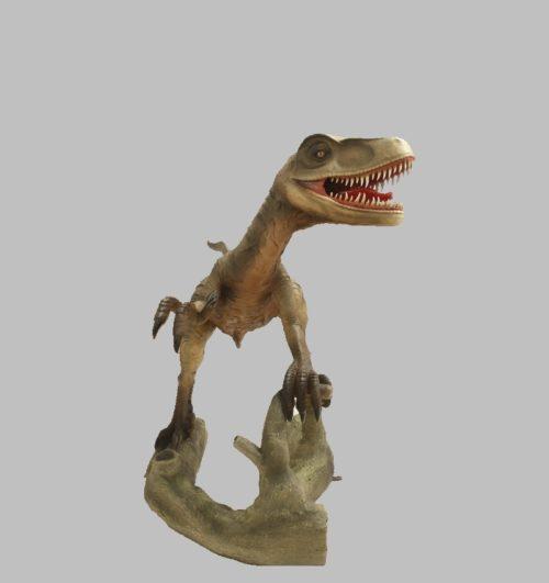 Velociraptor-bouche-ouverte-nlcdeco-décoration-en-résine-dinosaure-vue-face.jpg