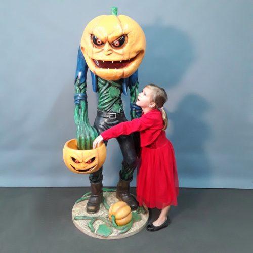 Homme citrouille Halloween nlcdeco