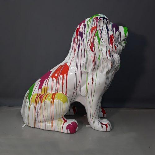 Lion assis en résine nlcdeco