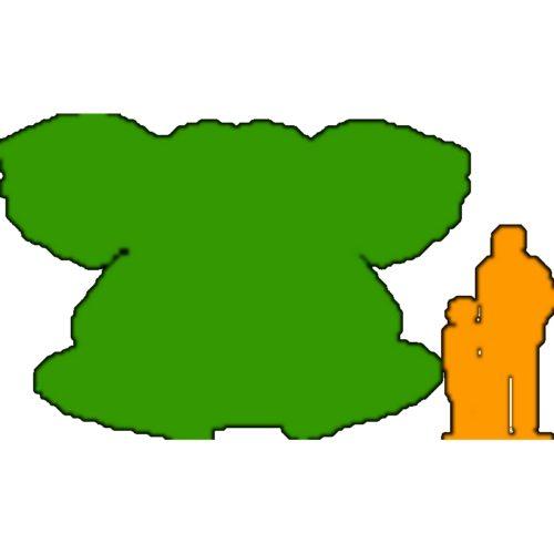 Taille éléphant assis de 3m de hauteur nlcdeco