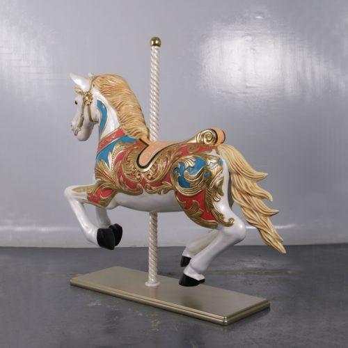 cheval de carrousel au galop nlcdeco
