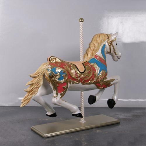 cheval de carrousel sur socle nlcdeco