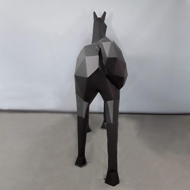 Cheval origami noir déco moderne design nlcdeco