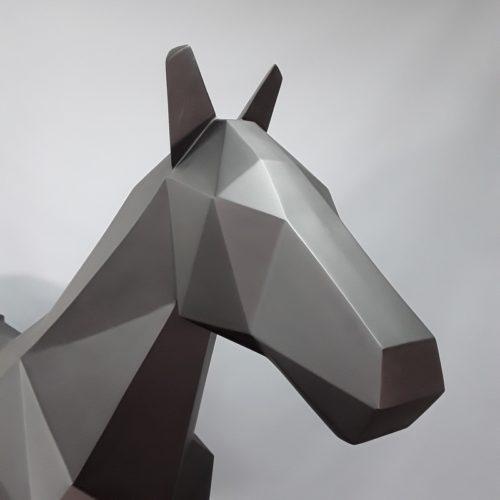 Cheval origami noir mat nlcdeco