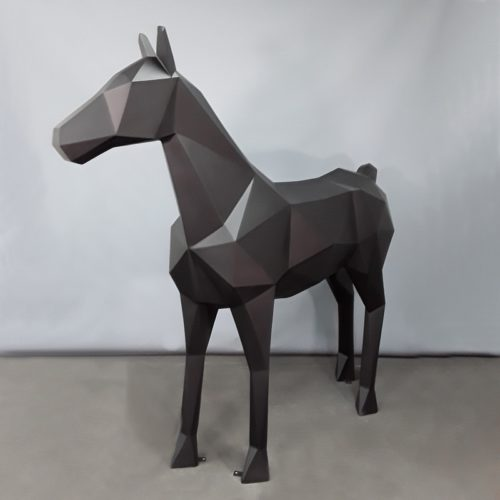 Cheval origami noir nlcdeco