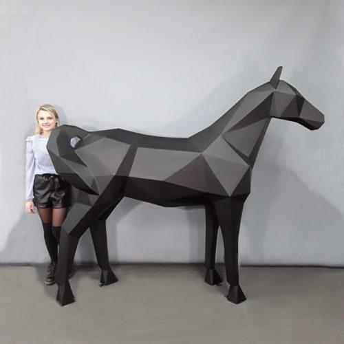 Cheval origami pliage grandeur nature nlcdeco