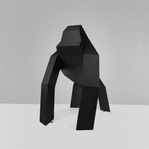 Gorille origami noir nlcdeco