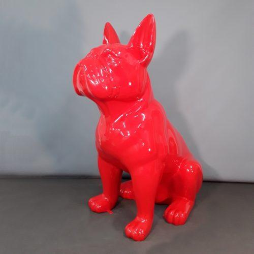 Bouledogue rouge décoration clinique vétérinaire nlcdeco