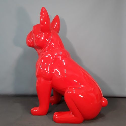 Bouledogue rouge moderne grand format nlcdeco