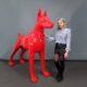 Doberman debout design rouge nlcdeco