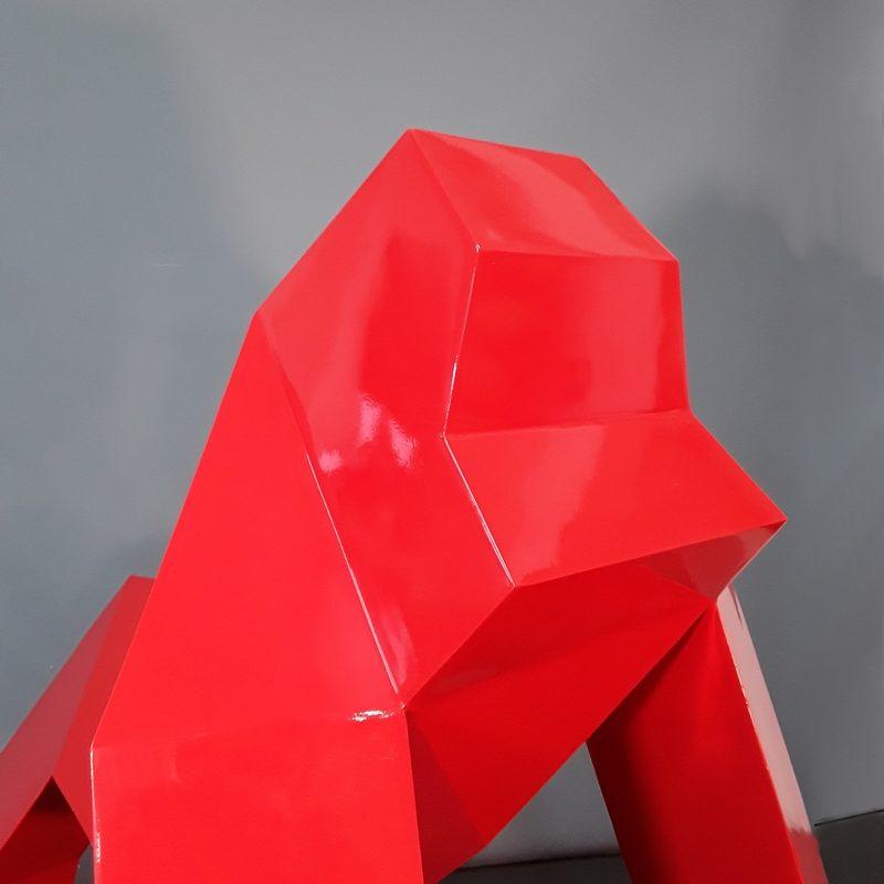 Gorille moderne rouge nouvel art design nlcdeco