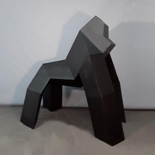 Gorille noir design en résine nlcdeco