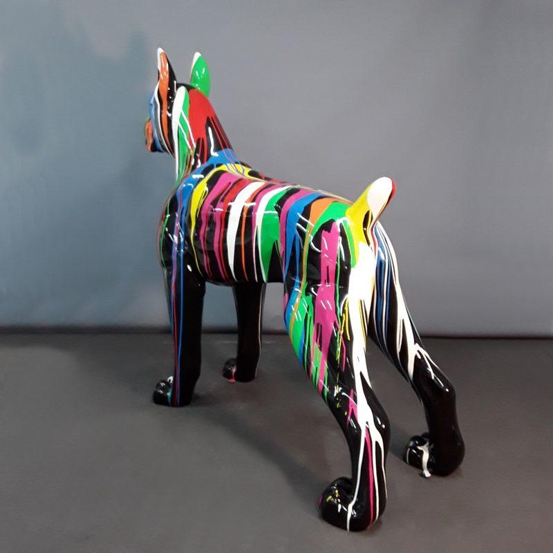 chien Boxer noir trash nlcdeco