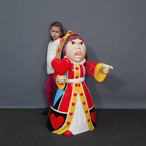 figurine reine de cœur personnage animé nlcdeco