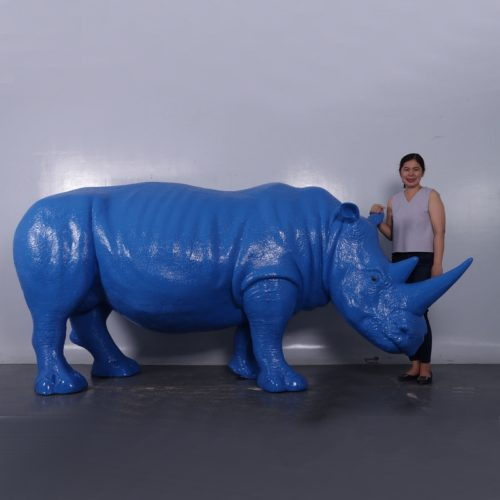 rhinocéros design bleu nlcdeco