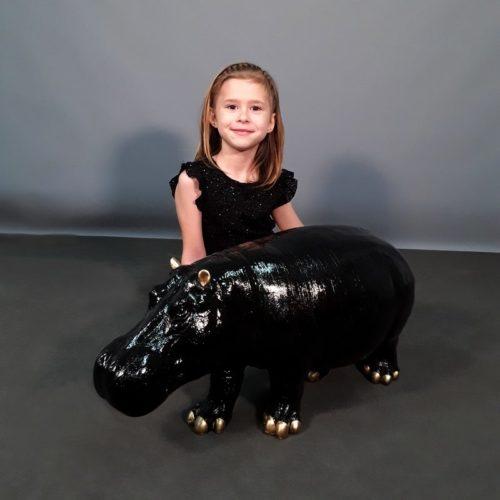 Hippopotame noir design nlcdeco