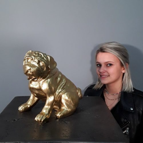Statue Bouledogue or nlcdeco
