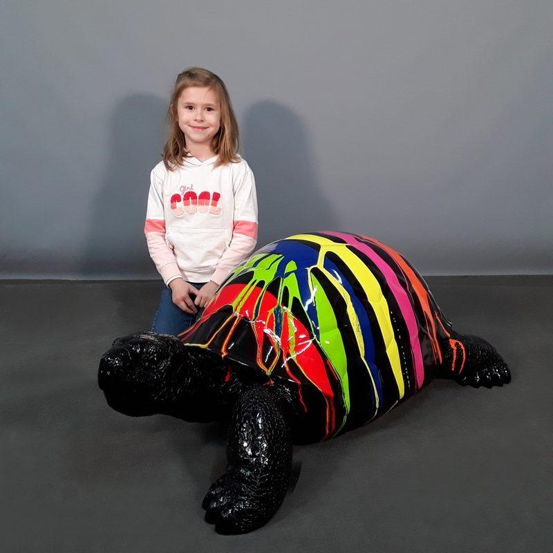 Statue tortue design peinture nlcdeco
