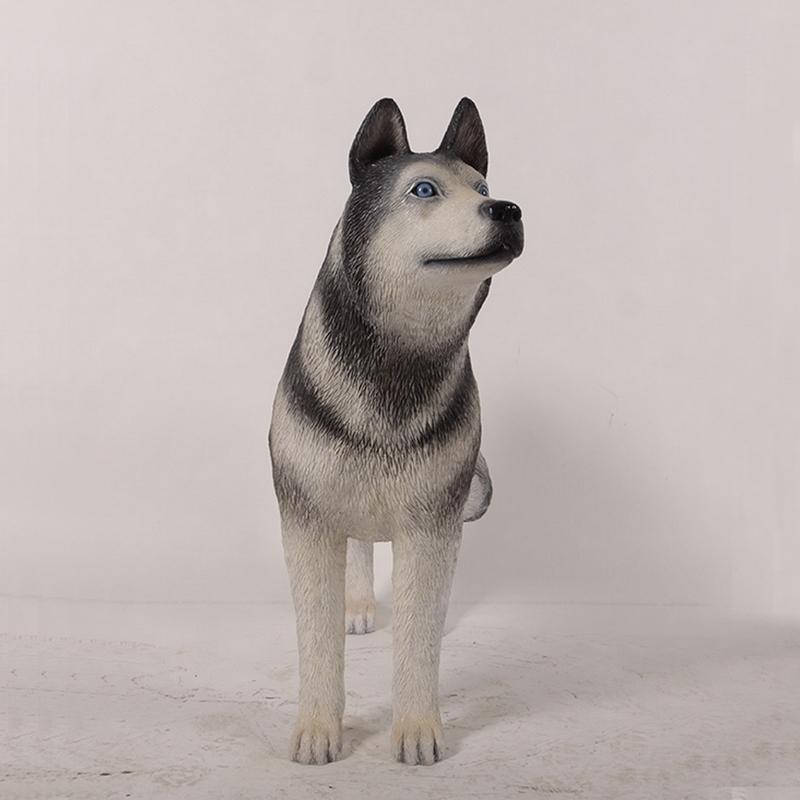 Statuette chien Husky nlcdeco