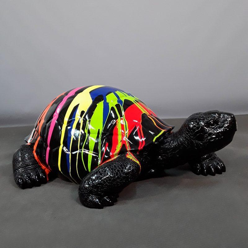 black resin design turtle nlcdeco