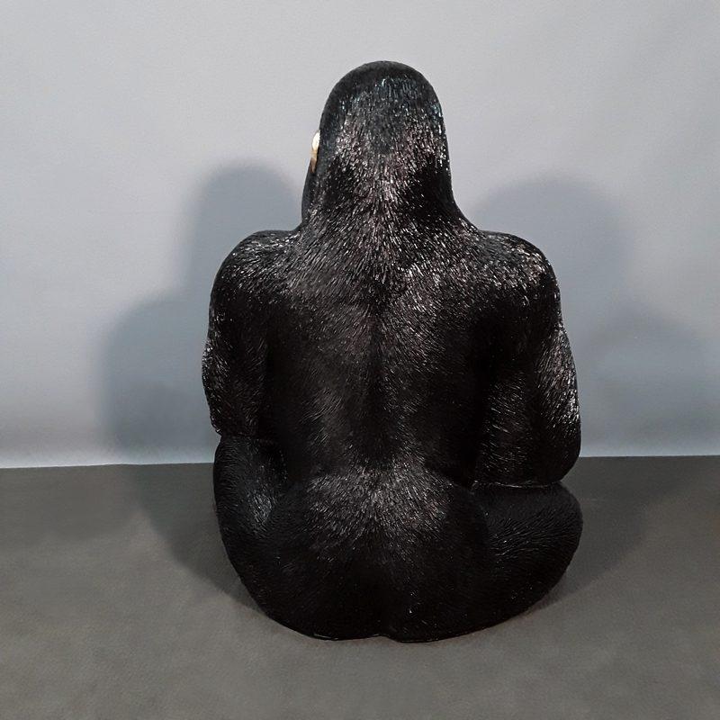 gorille assis en résine nlcdeco