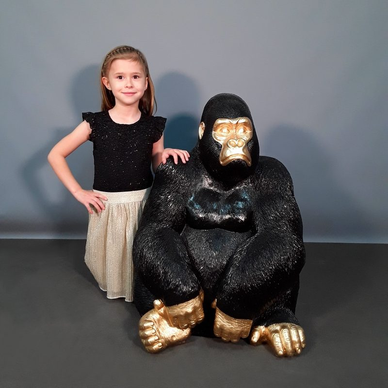 gorille design or et noir nlcdeco