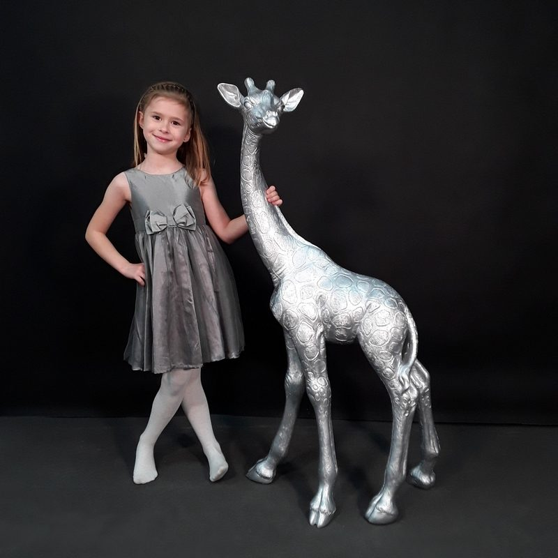 moderne Girafe argentée nlcdeco
