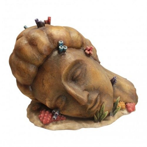Tête de femme sculptée dans la pierre nlcdeco