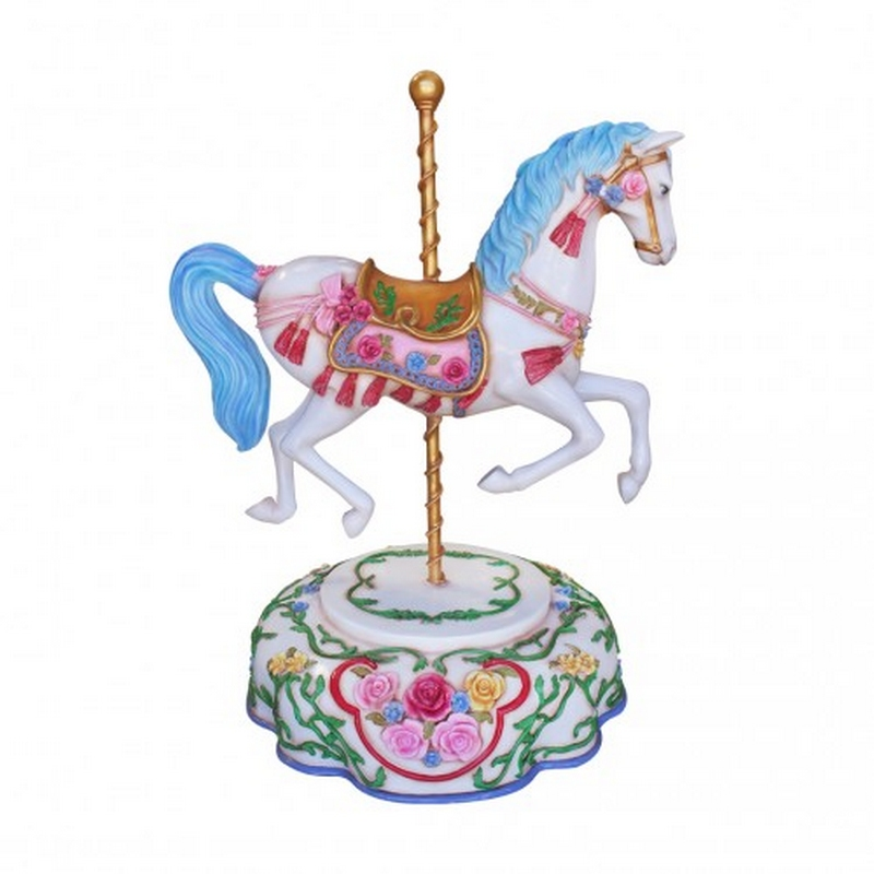 Carousel on blue plate nlcdeco