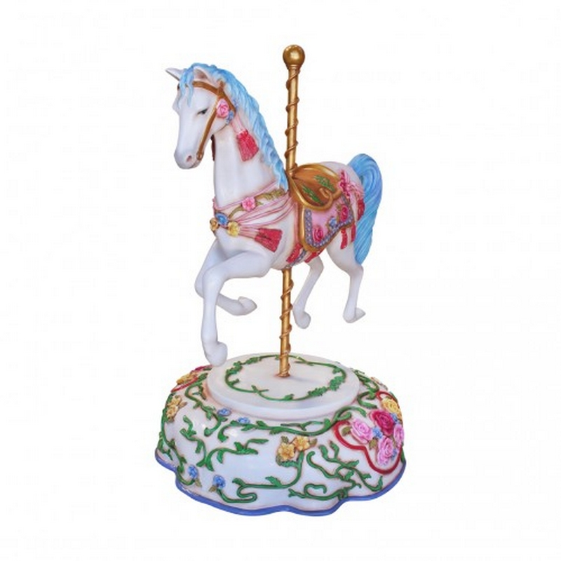 Cheval de Carrousel porcelaine nlcdeco