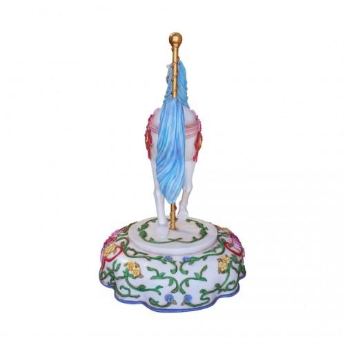 Cheval de carrousel bleu nlcdeco
