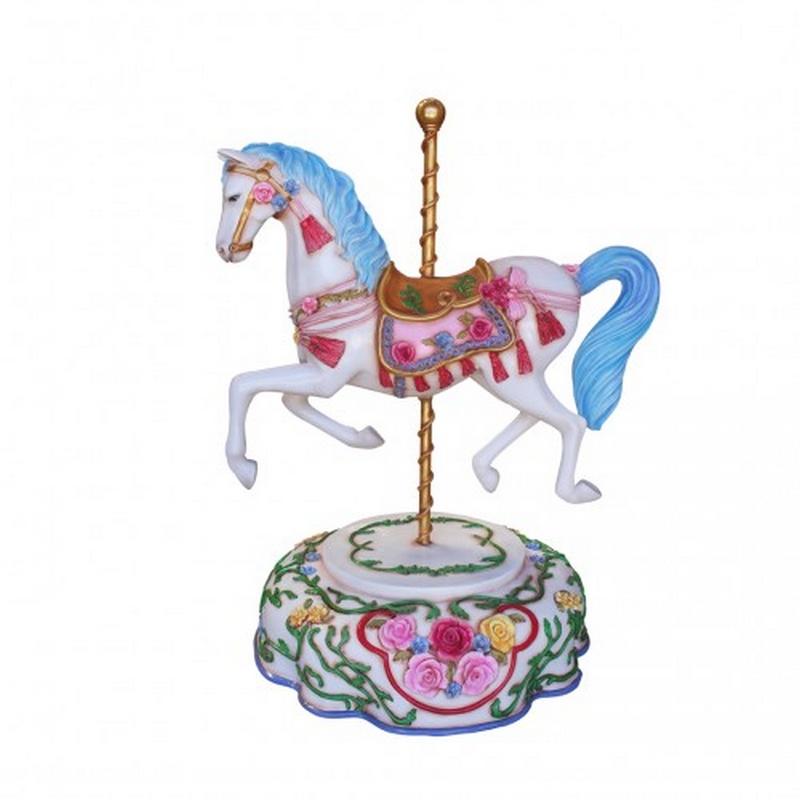Cheval de carrousel fleuri nlcdeco